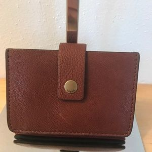 Fossil Mini Leather Tab Wallet